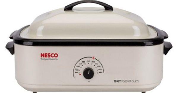 Nesco 18qt Porcelain Cookwell Roaster Ivory Electric Roaster Ovens Electric Roaster Roaster Ovens