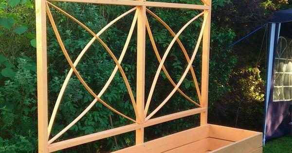 pflanzkasten mit rankhilfe bauanleitung zum selber bauen. Black Bedroom Furniture Sets. Home Design Ideas