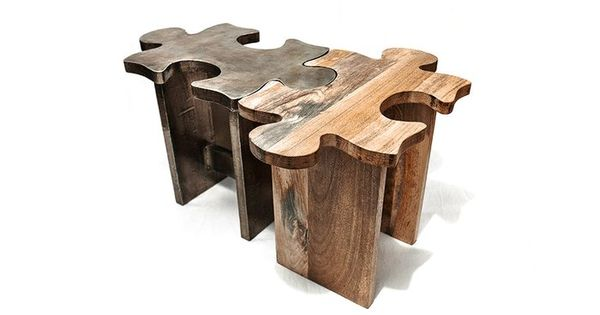 Jigsaw Puzzle Stools. Would be awesome in a game room