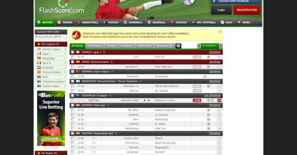 Flashscore Com How To Check Live Scores Results Football Livescore For Free In 2020 League Table Upcoming Matches Football