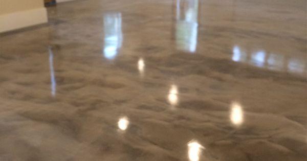 Gray White Epoxy Metallic Floor Resin Epoxy Pinterest