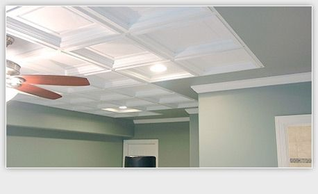 Ceiling Tiles And Ceiling Panels Ceiling Tiles Basement Ceiling Ideas Cheap Coffered Ceiling