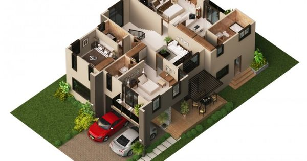 Modern House Plan 2014002 Pinoy House Plans 3d Floor