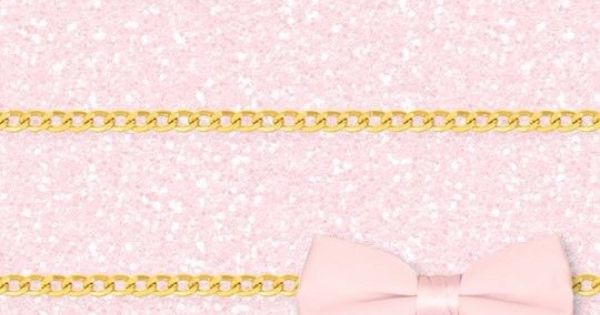 Pink And Gold Glitter Iphone Wallpaper: Pink Girly Glitter Ribbon Gold IPhone Wallpaper Home