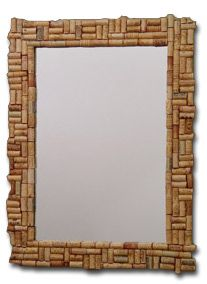 Wine Cork Mirror Idea What A Fun Way To Display Your