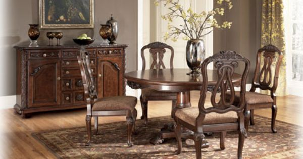 North Shore Dining Uph 2 Side Chairs Round Dining Room Sets Ashley Furniture Dining Dining Room Sets