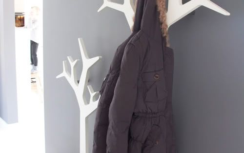 Tree coat racks, cool idea
