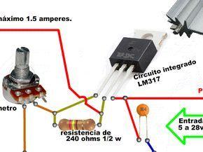 Tu Propia Fuente De Voltaje Regulable Taringa Electronic Circuit Projects Electronics Projects Electronics Projects Diy