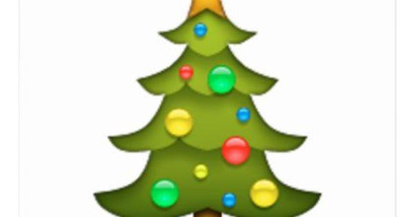 Christmas Tree Emoji Holiday Postcard Zazzle Com Tree Emoji Christmas Pillowcases Christmas