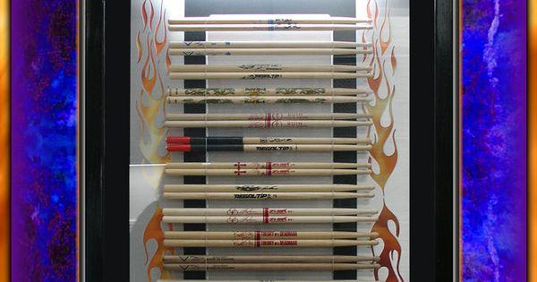 custom shadow box drumstick wall display custom drumstick wall displays pinterest shadow. Black Bedroom Furniture Sets. Home Design Ideas