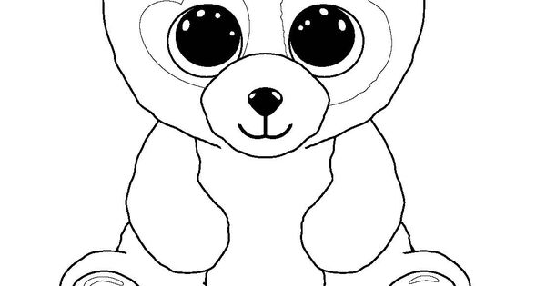 ty big eye coloring pages | Ty Beanie Boos Coloring Pages | Kid's Stuff | Pinterest ...