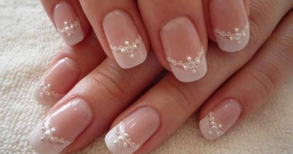 40 ideas for wedding nail designs hochzeit nageldesign und diamanten. Black Bedroom Furniture Sets. Home Design Ideas