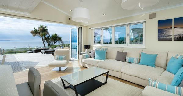 Beach House Decorating Living Room Beach Style With Corner Sofa Bi Fold  Doors | Home And Rooms | Pinterest | Casa, Casas De Praia E Casas Part 82