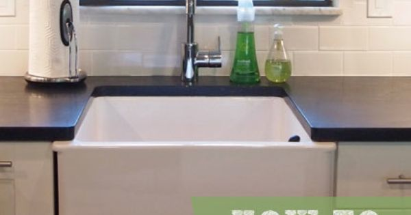 Apron Sink Ikea : How to Undermount Ikeas Domsjo Sink Apron sink, Laundry rooms and ...