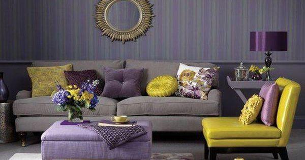 Marvelous Purple Lilac Living Room