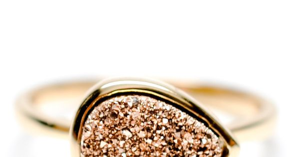 Drusy Drop Ring In Rosegold   Leif Love this style