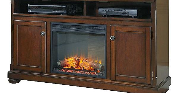 The Porter Large TV Stand W/ Fireplace From Ashley