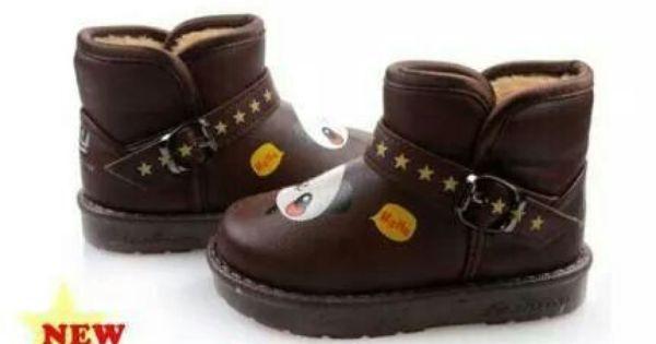 Ready Stock Kids Winter Boots Kode Wb 17 Dark Brown Panda Size