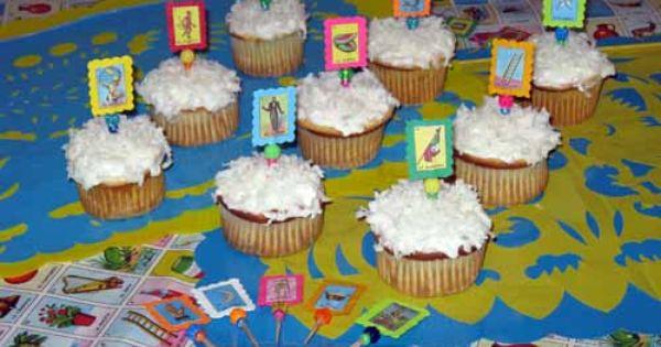 Loteria Cupcake Picks With Images Cupcake Picks Fun Cupcakes