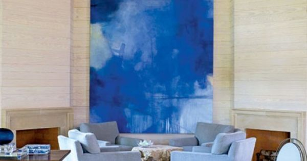 Luxuriate in the living room cobalt and periwinkle blues for Cobalt blue living room