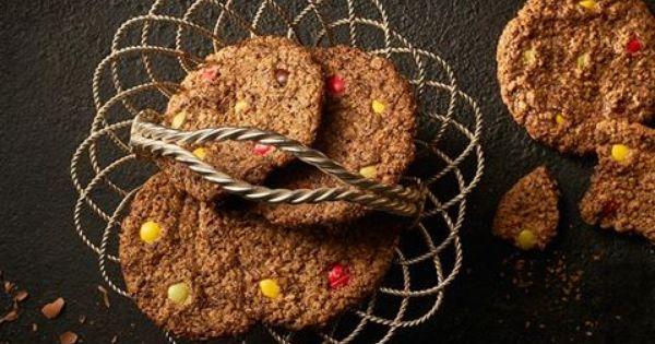 Kolorowe Ciasteczka Owsiano Czekoladowe Przepis Recipe Food Recipe Book Helathy