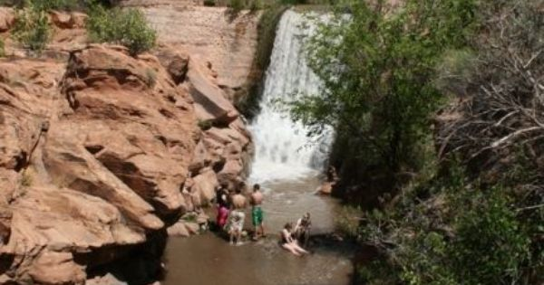 Mill Creek Waterfall/Swimming Hole, Moab, Utah. From ...