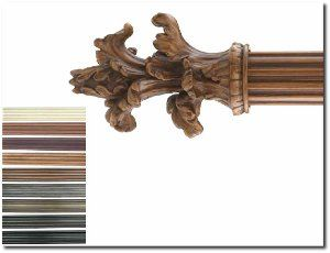 Fluted Wood Pole With Images Drapery Hardware Wood Curtain