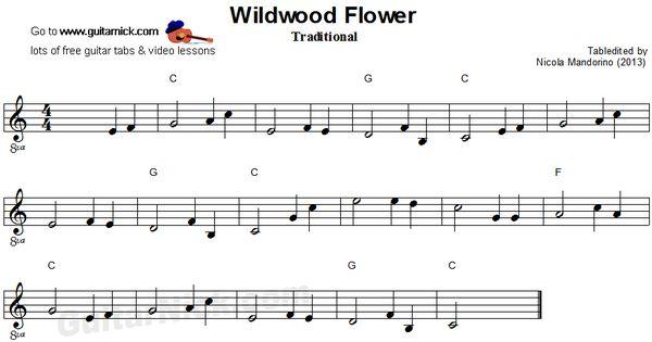 willdwood flower easy guitar sheet music music pinterest best easy guitar easy guitar. Black Bedroom Furniture Sets. Home Design Ideas
