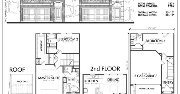 Townhome Plan D7093 U2 3 R C H Pinterest