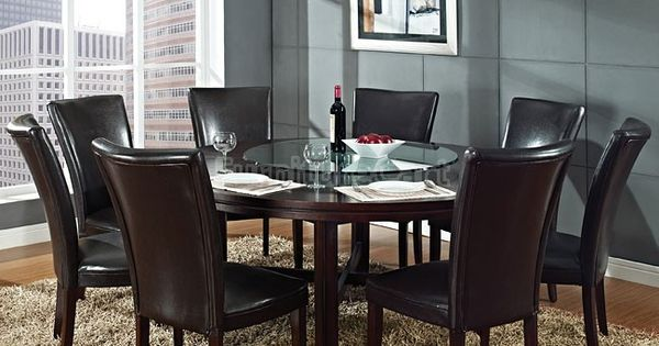 Hartford Round Dining Room Set W 72 Inch Table Inspired Dining Rooms Pinterest Round