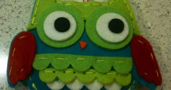 Holiday Craft Felt Owl Ornament Cool Holiday Stuff