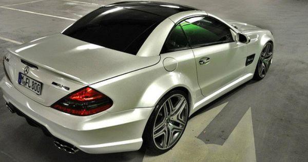 I Wish I Had This Mercedes Sl Widebody Facelift Conversion Lamborghini Pearl White Sl65 R230 By Prior Design Mercedes Sl Mercedes Mercedes Slk