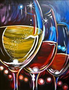 Trio Canvas Painting Painting Classes Paint And Wine Classes Wine Painting Wine And Canvas Painting