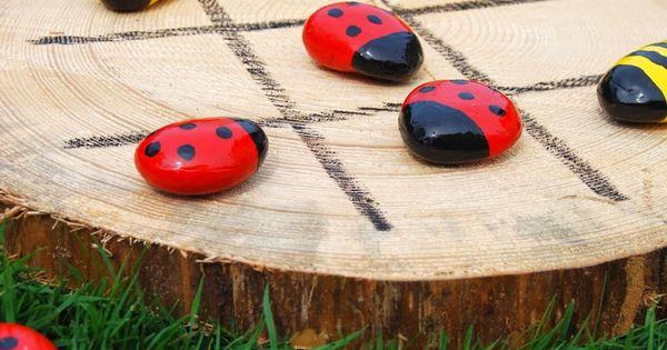 taburettli drei gewinnt f r draussen basteln mit maxi pinterest drau en spiel und. Black Bedroom Furniture Sets. Home Design Ideas