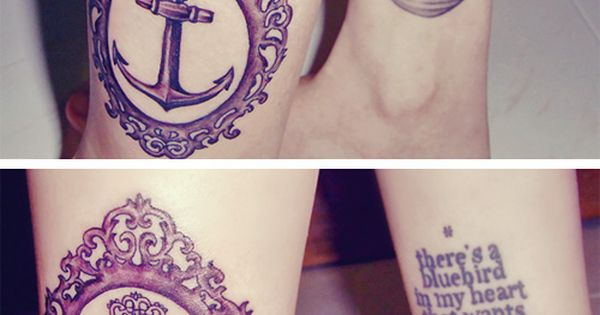 I love the look of nautical tattoos. I just wish the sea