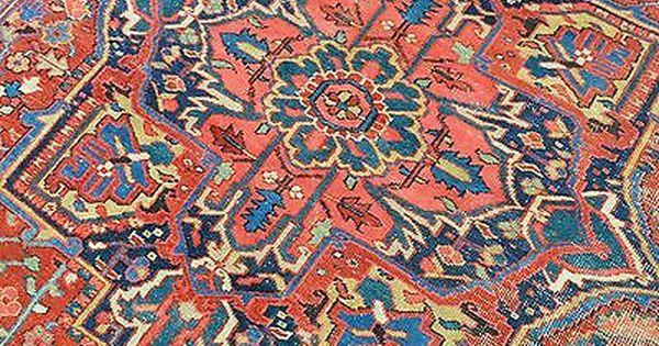 Antique Persian Heriz Serapi Rug W Central Medallion Soft Colors 9x12 Rugs Serapi Rug Antiques