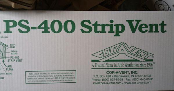 Cor A Vent Ps 400 Box Insulation Baffles Ridge Vent Roof Ventilator