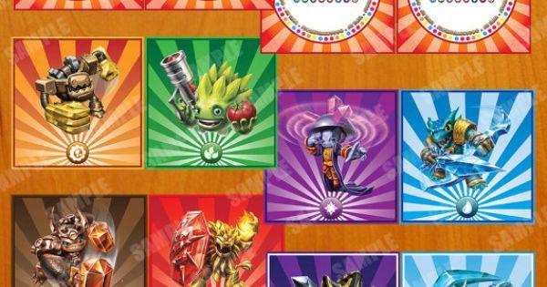 Skylander Trap Team Inspired Birthday Banners By
