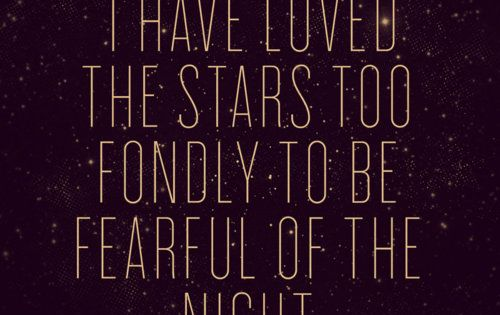 starry night. Laying under the stars with you were the best nights.