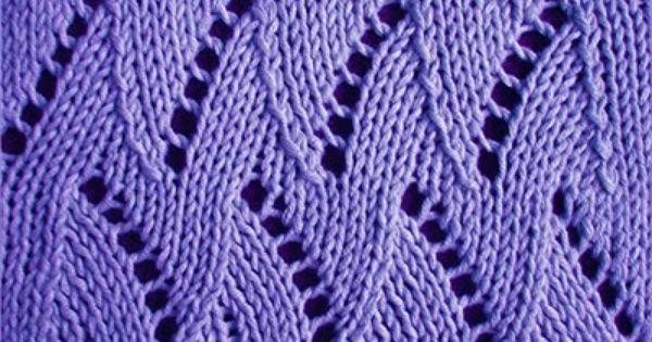 Chevron Stitch Knit In The Round : zigzag-chevron-stitches Knitting Stitch Patterns Breien Pinterest Kni...