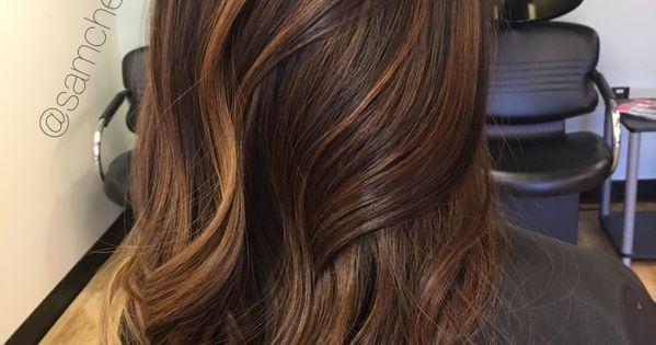 Golden Honey Caramel Highlights For Brown Hair Highlights