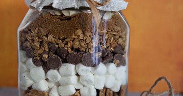 Campfire Bars Mix: Mason Jar Gifts