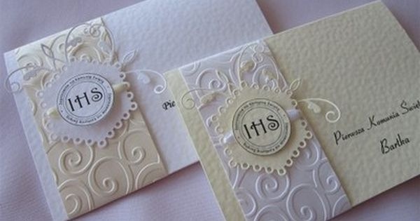 Znalezione Obrazy Dla Zapytania Zaproszenia Na Komunie Allegro Card Design Invitations Communion