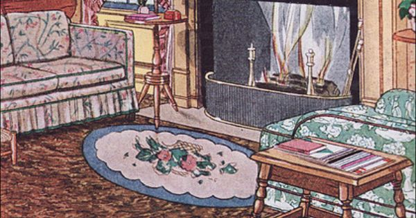 1931 sealex veltone linoleum in the living room living. Black Bedroom Furniture Sets. Home Design Ideas