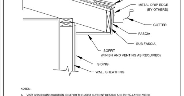 drip edge and grace ice and water shield    assembly diagram for how to install
