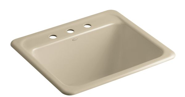 Glen Falls 25 X 22 Single Top Mount Utility Sink With 3 Faucet