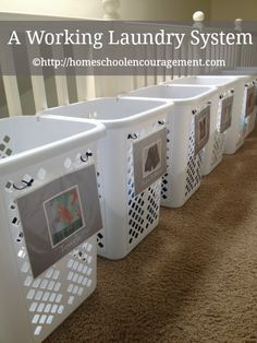 Solution A Working Laundry System For Children And Adults Large Family Small House Laundry Room Organization Large Family Organization Family Organizer