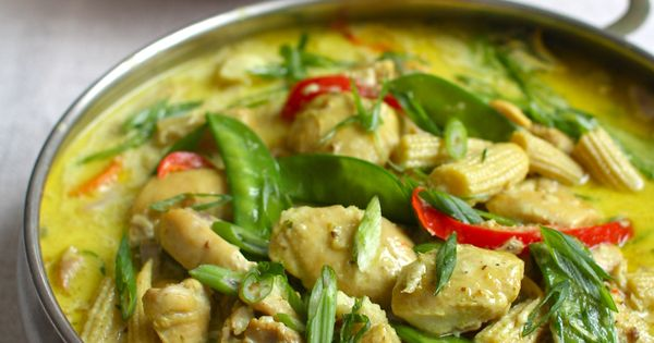 Thai coconut ginger chicken and vegetables (slow cooker recipe).