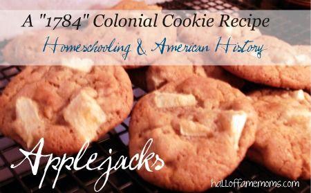 1784 Colonial American Recipe Applejacks Cookies Cookie Recipes Recipes Colonial Recipe