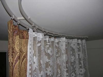 Heavy Duty Flexible Curtain Track Curtain Rods Flexible Curtain